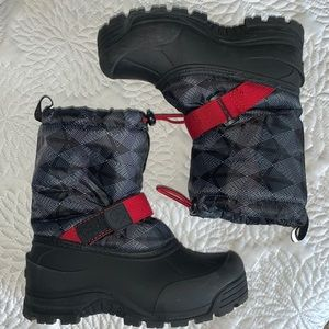 Northside Boy's Water Resistant Boots Black/Red 1